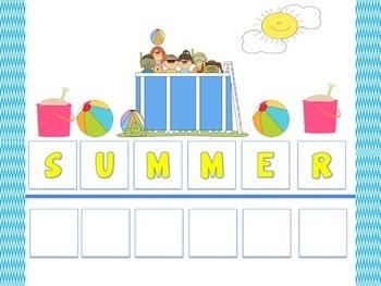 Summer Themed File Folders (4)
