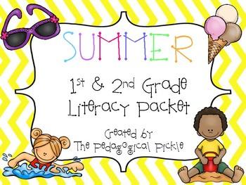 Summer Themed First Grade Literacy Packet