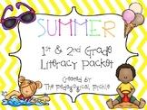 Summer Themed First & Second Grade Literacy Packet