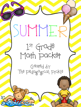 Summer Themed First Grade Math Packet