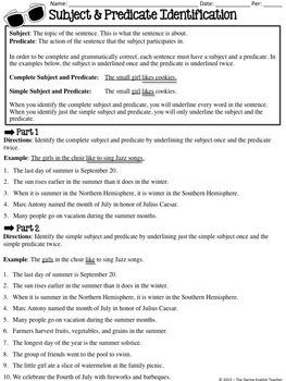 Summer Themed Grammar Worksheets