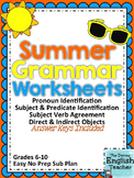 Summer Themed Grammar Worksheets