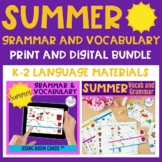 Summer Themed Grammar and Vocabulary BUNDLE - Print and Digital