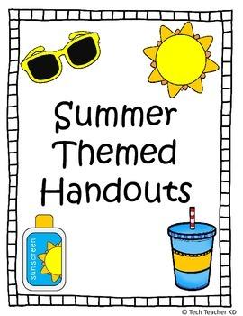 Summer Themed Handouts