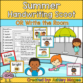 Summer Themed Handwriting Scoot and/or Write the Room