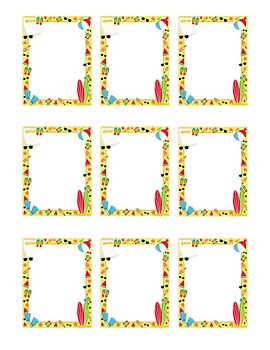 Summer Themed Homophone Concentration Game - 5≥ letters