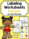 Summer Themed Labeling Worksheets and Writing Prompts
