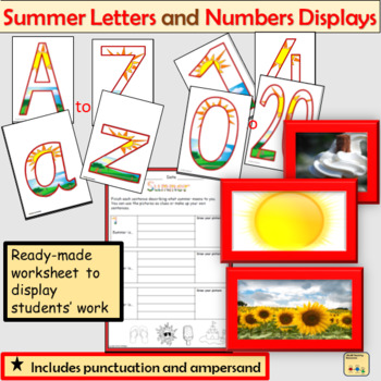 Summer-Themed Letters Numbers Display  Punctuation Math Signs Summer Photos
