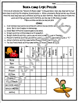 Summer Themed Logic Puzzles