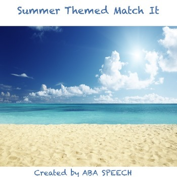 Summer Themed Match Game