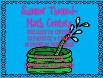 Summer Themed Math Centers