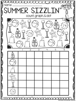 Summer Themed Math Centers & Printables