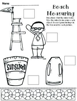 Summer Themed Math {Print & Go} 1st Grade