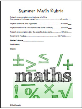 Summer Math Problem Solving Projects for Upper Elementary Students!