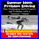 Summer Math Problem Solving Projects for Upper Elementary