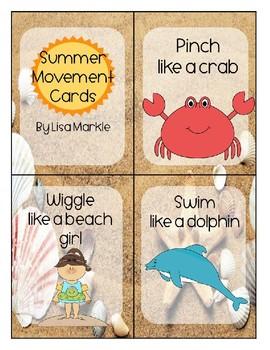 Summer Movement Cards for Preschool