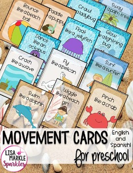 Summer Themed Movement Cards for Preschool