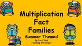 Summer Themed Multiplication Fact Families