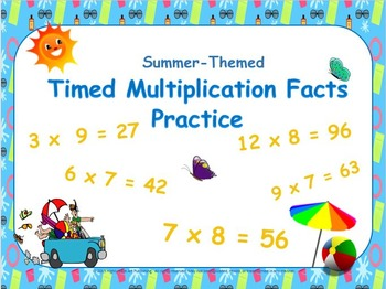 Summer-Themed, 'Beat-the-Clock' Multiplication Facts Power