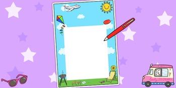 Summer Themed Notes from Teacher
