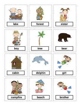 Summer Themed Noun Sort