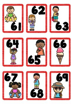 Summer Themed Number Cards 1-100