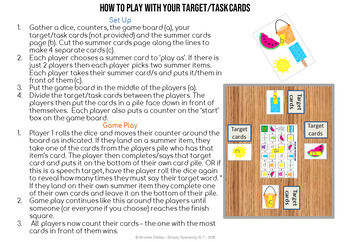 Summer Themed Open Ended Game For All Subject Areas