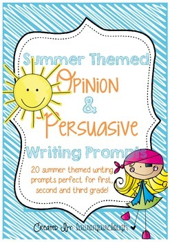 Summer Themed Opinion and Persuasive Writing Prompts