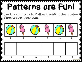 Summer Themed Patterns for Math Centers