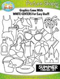 Summer Picture Shapes Clipart {Zip-A-Dee-Doo-Dah Designs}