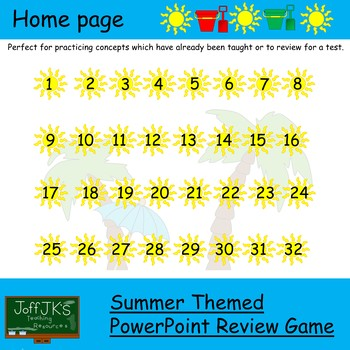 Summer Themed PowerPoint Review Game