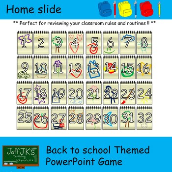 Back to School Themed PowerPoint Review Game