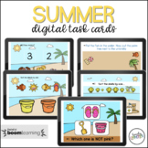 Summer Themed Preschool Boom Cards for Virtual Learning