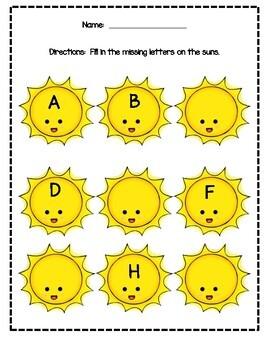 Summer Themed Preschool, PreK, Kindergarten Packet