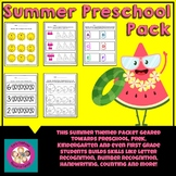 Summer Themed Preschool, PreK, Kindergarten Packet
