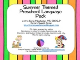 Summer Themed Preschool Speech & Language Pack