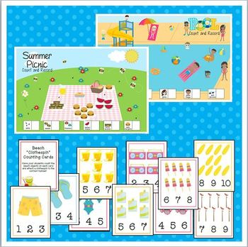 Summer-Themed Printable Activities for Preschool and Kindergarten