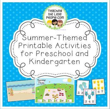 Summer-Themed Printable Activities for Preschool and Kindergarten