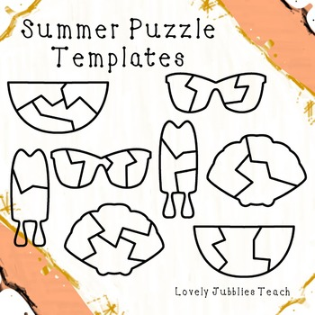 Summer Themed Puzzle Templates