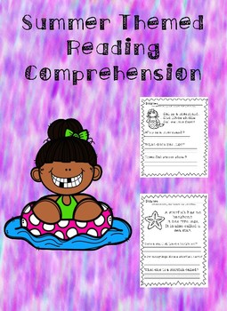 Summer Themed Reading Comprehension