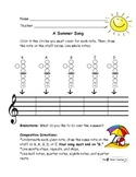 Summer Themed Recorder Composition for Elementary Music