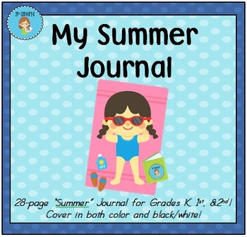 Summer-Themed Review Journal for Primary Grades
