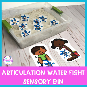 Summer Themed Sensory Bin Companion For Speech & Language