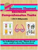 Summer Themed Sentence Comprehension Tasks