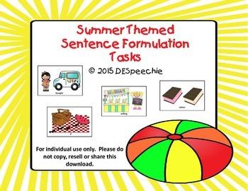 Summer Themed Sentence Formulation Tasks