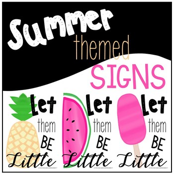 Summer Themed Signs