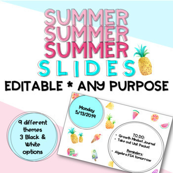 Summer Themed Slides