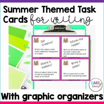 Summer Themed Task Cards-For Writing