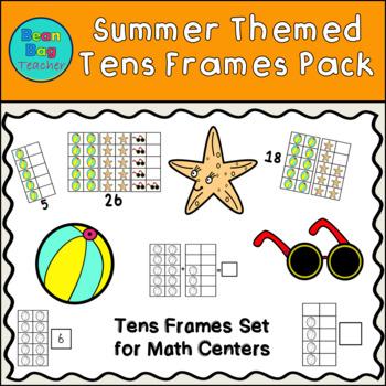 Summer Themed Vertical Tens Frames Pack