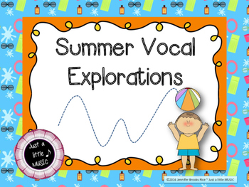 Summer Themed Vocal Exploration Slides and Worksheets